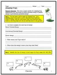 kinetic and potential energy jumping frogs by cindy zack tpt