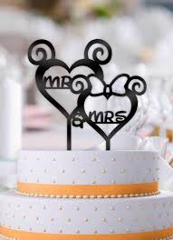 mr and mrs wedding cake toppers curly hearts mr and mrs disney wedding cake topper bee3dgifts