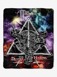 Harry Potter Bathroom Accessories Harry Potter Deathly Hallows Cloud Throw Blanket Boxlunch