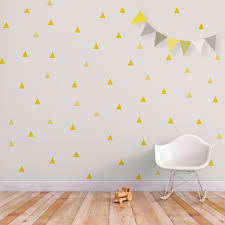 Children Wall Decals Baby Wall Decal Triangle Nursery Decor Wall Sticker Yellow