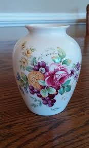 Antique Hand Painted Vases Spode Vase Floral And Fruit Roses Grapes Pineapples Hand