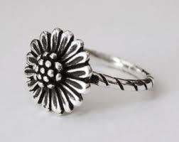 sunflower engagement ring sunflower ring etsy