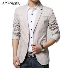 Light Blue Jacket Mens 2017 Mens Fashion Suit Slim 2016 Blazer Sky Blue Light Grey Khaki