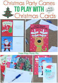 Games To Play In Christmas Parties - christmas party games using christmas cards