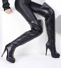 buy boots buy cheap lace up thigh high boots sexyshoeswoman com