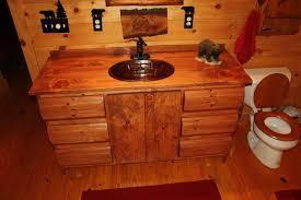Rustic Bathroom Vanities For Vessel Sinks Rustic Bathroom Vanity With Vessel Sink Home Design Ideas