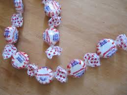 sew many ways peppermint candy garland