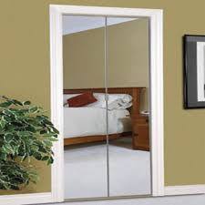 Slimfold Closet Doors Slimfold 24 X 80 Frameless Steel Bifold Mirror Door With Beveled