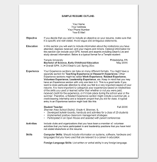 temple resume format resume outline template 19 for word and pdf format