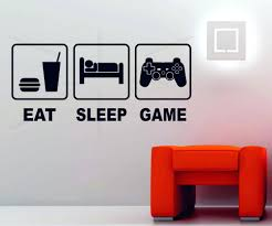 wall ideas sticker wall decor quotes stickers wall art uk wall wall decor decals trees eat sleep game playstation xbox wii decor art vinyl wall sticker ps4 console wall sticker decoration ideas decal wall art uk