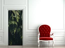 landscape nature cityscapes and street art wall murals the jungle leaf door mural