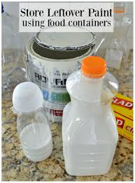 Water Bottle Storage Container Store Leftover Paint For Free