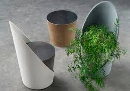 concrete design original design armchair concrete central base by gigi