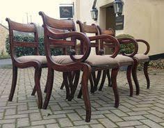6 henredon french regency style mahogany dining chairs regency