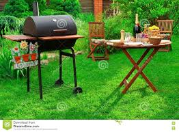 Backyard Bbq Grills by Backyard Bbq Party With Charcoal Grill Wine And Served Table
