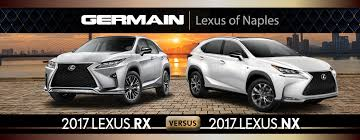 lexus vs 2017 lexus nx vs 2017 lexus rx comparison in naples fl germain