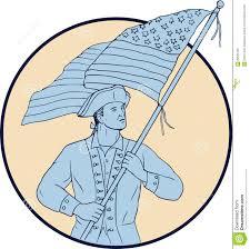 american patriot waving usa flag circle drawing stock illustration