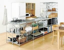 Stainless Steel Kitchen Shelves by Kitchen Muji Stainless Steel Unit Shelf Kitchen Complete List