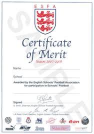 english schools u0027 football association esfa esfa certificate of