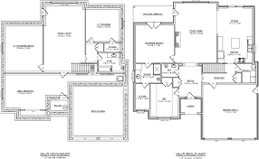 ranch home plans with basements one and a half story house plans with walkout basement ranch from