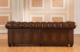 Used Leather Chesterfield Sofa by Amax Hickory Leather Chesterfield Sofa U0026 Reviews Wayfair