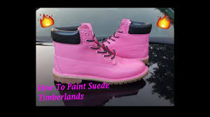 how to paint suede timberlands customize angelus youtube