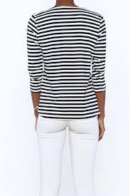 lulu b stripe basic top from rhode island by sail loft clothing