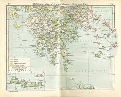 Greece Map Blank by Nationmaster Maps Of Greece 35 In Total