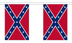 Confederate Flag And Union Flag Confederate Bunting 9 Metres 30 Flags