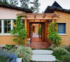 entrance courtyard design ideas entry contemporary with straw bale