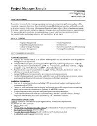 project manager resume example example of resume to apply job 9883