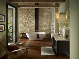 L Shaped Bathroom Vanity by L Shaped Bathroom With White Stone Wall Containing Wood Flooring
