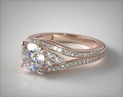 double rings jewelry images Double pave diamond engagement ring 14k rose gold 17408r14 jpg
