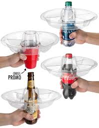 wine bottle plates the goplate reusable party plate doubles as drink holder