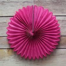 hot pink tissue paper 12 fuchsia hot pink tissue paper flower rosette fan decoration