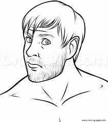 dean ambrose wwe coloring pages printable