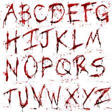 dripping bloody alphabet stock vector art 484778506 istock