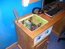 Custom Desk Plans Desk Custom Gaming Computer Desk Computer Built Into Desk Plans