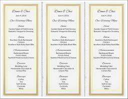 diy wedding menu cards it yourself wedding menu cards