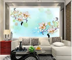magnolia flower high end warm dream living room tv wall mural 3d
