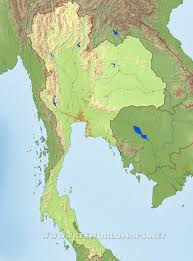 Thailand On World Map by Thailand Physical Map