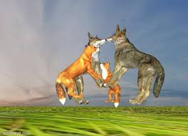 fox wolf by jarble on wordseye