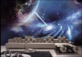 Custom mural 3d wallpaper photo universe planet in outer space