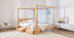 Four Post Canopy Bed Frame Remarkable Four Poster Canopy Beds Padstyle Interior Design