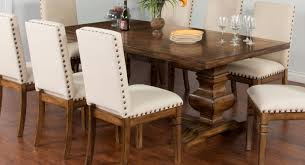 cornerstone burnished mocha wood rectangle extension dining table