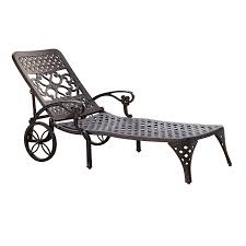 Outdoor Chaise Lounge Chairs With Wheels Amazon Com Home Styles Biscayne Chaise Lounge Chair Black