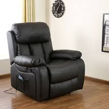 Armchair Sofa Chester Heated Leather Massage Recliner Chair Sofa Lounge Gaming