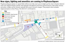 Cleveland Rta Map Playhousesquare Aims For A Bright Lights Big City Feel With 16
