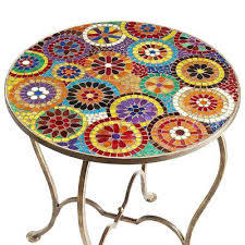Mosaic Accent Table Mosaic Accent Table Outdoor Mosaic Accent Table Mosaic Tile