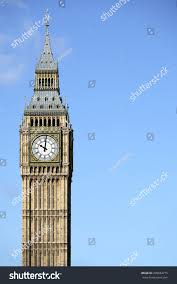London Clock Tower by Big Ben Clock Tower London Isolated Stock Photo 298684775